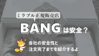BANGは安全?会社の安全性と注文完了までを紹介