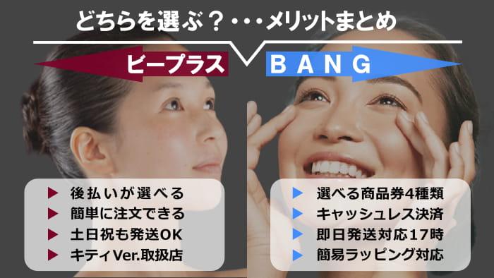 まとめ:ミラブルは「ビープラス」と「BANG」どちらで注文するのがいい?